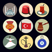Turkey travel icons