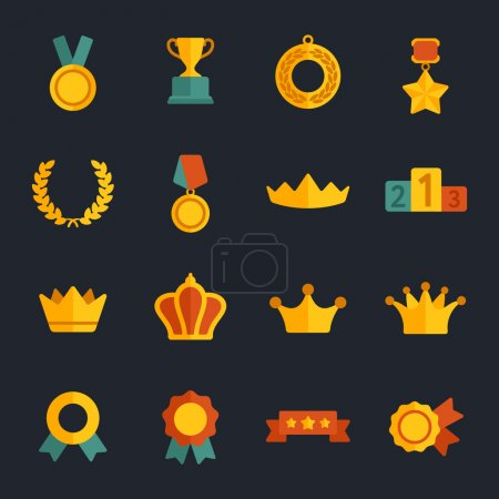 Awards flat icons