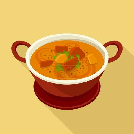 Illustration pour Curry icône vectorielle plate - image libre de droit