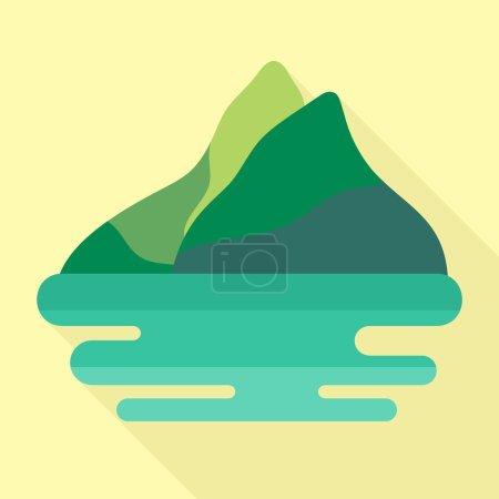 Mountains flat icon