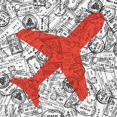 Travel theme illustration