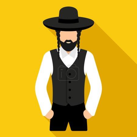 Jewish man illustration