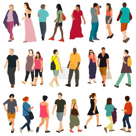 Illustration for Vector people  set on background - Royalty Free Image