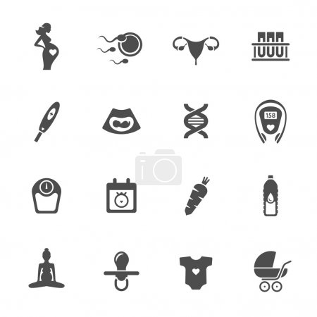 Illustration for Pregnancy icons,vector illustration - Royalty Free Image