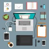 Designers workspace illustration