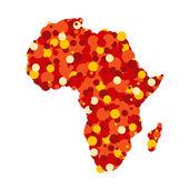 Abstract map of Africa