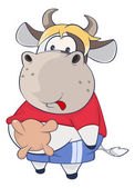 Ilustrace roztomilé kráva