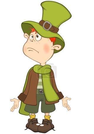 Illustration pour Illustration vectorielle de mignon garçon magicien - image libre de droit