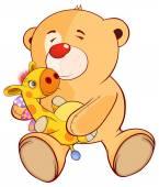 Hračka medvěd a hračka žirafa