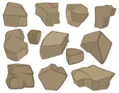 Stones set cartoon