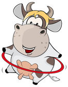 Malé kráva a hula hoop