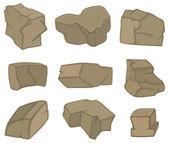Stones set cartoon illustration
