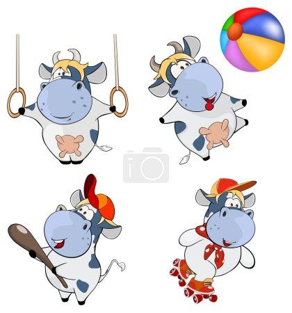 Cartoon Happy cows