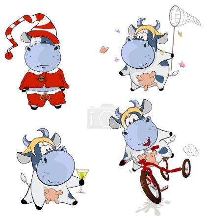 Happy cute cows