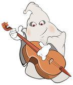 Ghost-musician cartoon