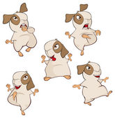 A set of a guinea pigs cartoon on white background