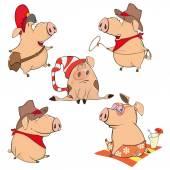 cheerful Cartoon pigs
