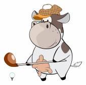 A little golfer cow