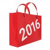 Sacchetto di carta con manici e figure 2016