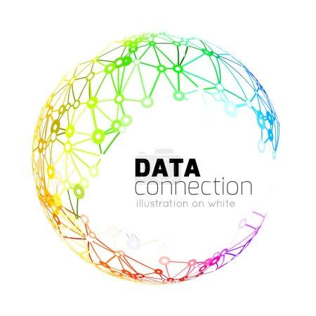 Illustration pour Connexion réseau abstraite. Fond de la technologie vectorielle sur blanc - image libre de droit