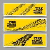Tire tracks background Vector illustration can be used for for posters brochures publications advertising transportation wheels tires and sporting events