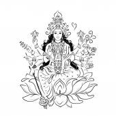 Indian goddess Shakti sketch for your design