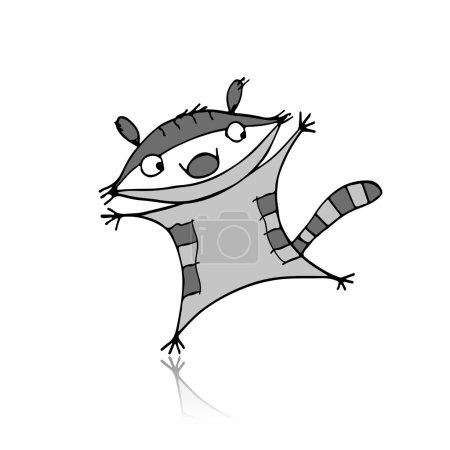 Illustration pour Raton laveur drôle pour votre conception. Illustration vectorielle - image libre de droit