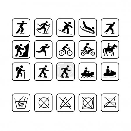 Icons for sport clothes design