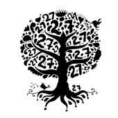 Tree 27 with roots for your design