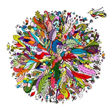 Illustration pour Cadre floral tropical pour votre design. Illustration vectorielle - image libre de droit