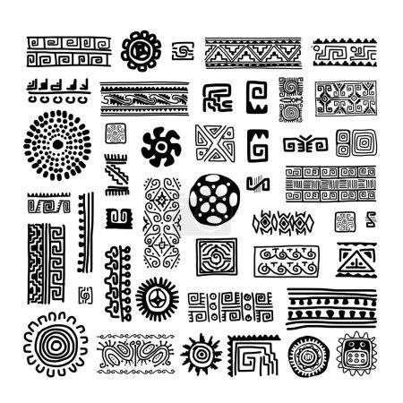 Illustration pour Ornement fait à la main ethnique pour votre conception. Illustration vectorielle - image libre de droit