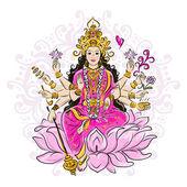 Indian goddess Shakti sketch for your design