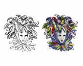 Venetian mask sketch for your design