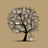 Book tree sketch for your design