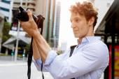 Mužské Fotograf fotografování snímku