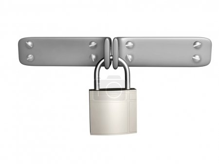 Photo for 3d padlock. Isolated on white background - Royalty Free Image