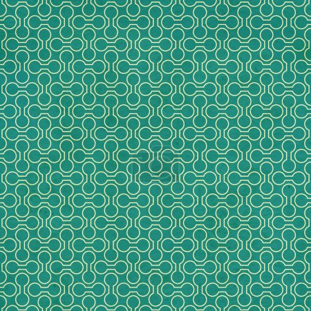 Texture of the old paper with retro geometric ornamental pattern