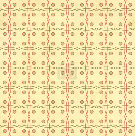 Seamless texture of the old paper with retro geometric ornamenta