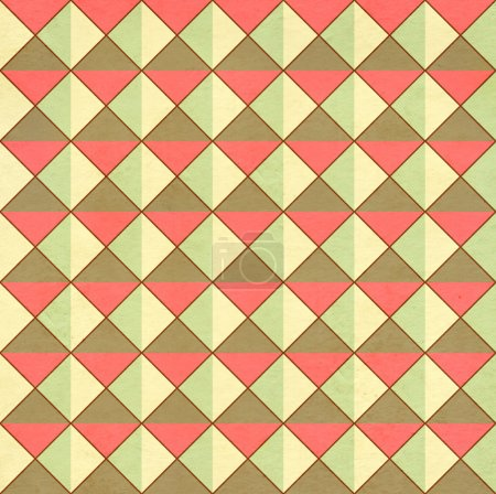 Photo for Seamless texture of the old paper with retro geometric ornamental pattern - Royalty Free Image