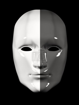 Human face mask of different colors - black and white