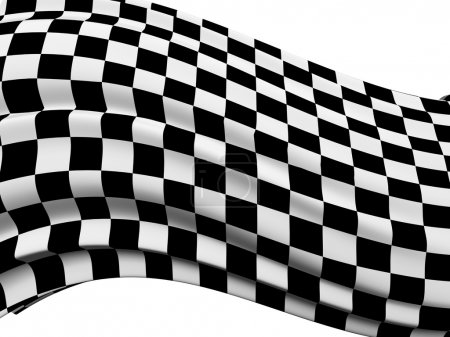 Abstract checkered flag