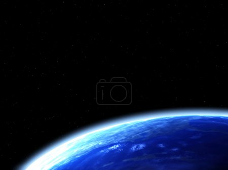 Space scene with Earth