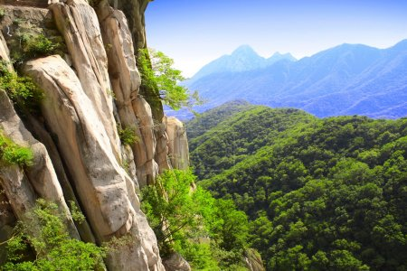 Mountains next to famous Shaolin monastery in Chin...
