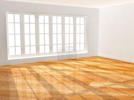 Foto de Habitación con piso de parquet nuevo - Imagen libre de derechos