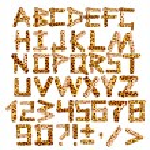 Постер, плакат: 3d alphabet in style of a safari