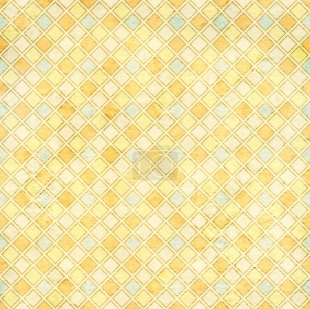 Seamless texture of the old paper with geometric ornamental patt