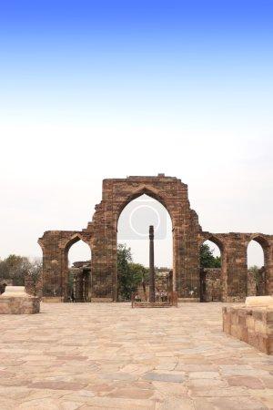 Iron Pillar and Qutab Minar Ruins, Delhi, India