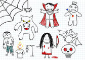 Vector collection of scary monsters