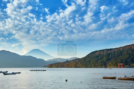 Scenic view of the mount Fuji