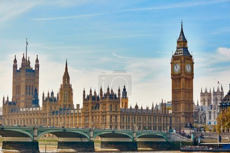 Big Ben with river Thames, London